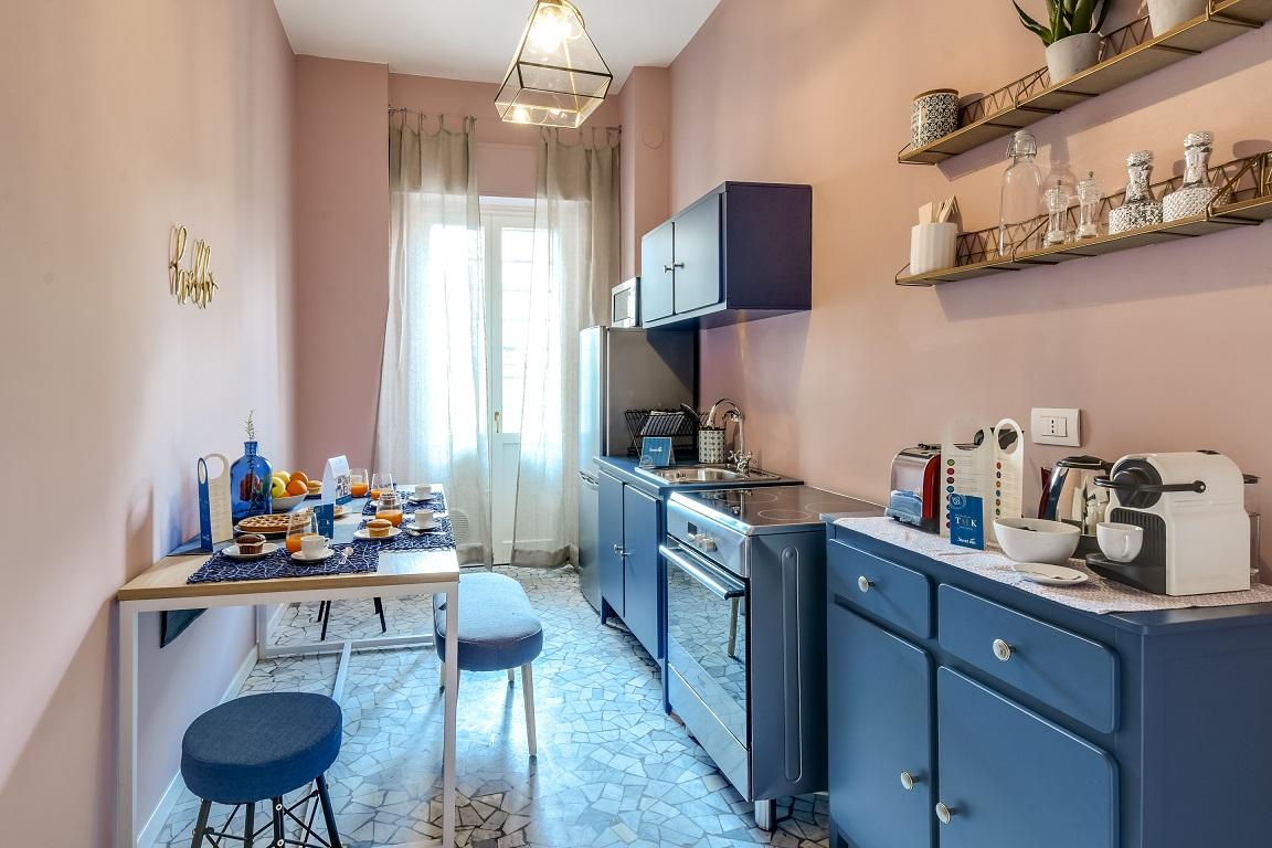 Charming kitchen at  Ariberto Apartment - Citybase Apartments