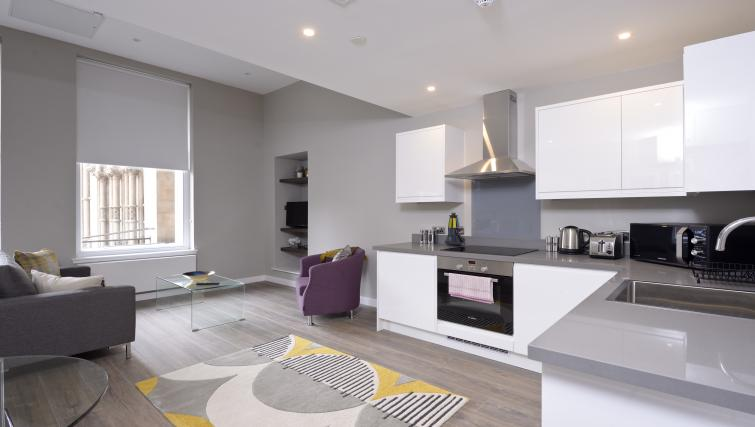 Kitchen at the Nelson Mandela Place Apartments - Citybase Apartments