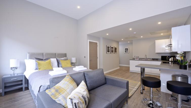 Lounge at the Nelson Mandela Place Apartments - Citybase Apartments
