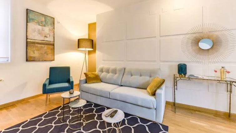 Sofa at Desengaño Apartment - Citybase Apartments