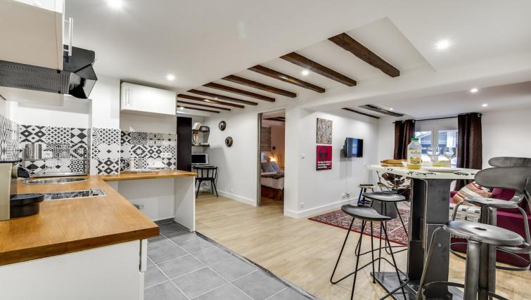 Kitchen at the Aboukir Apartments - Citybase Apartments