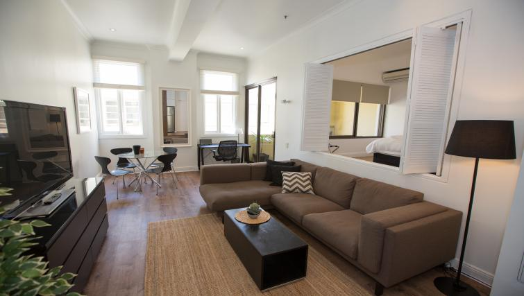 Living area at Abercrombie Apartment - Citybase Apartments