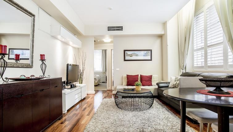 Lounge at the Cliveden Apartments - Citybase Apartments