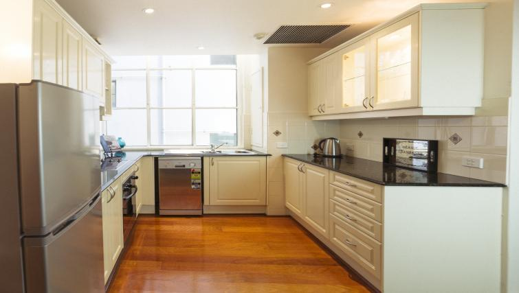 Kitchen area at the Cliveden Apartments - Citybase Apartments
