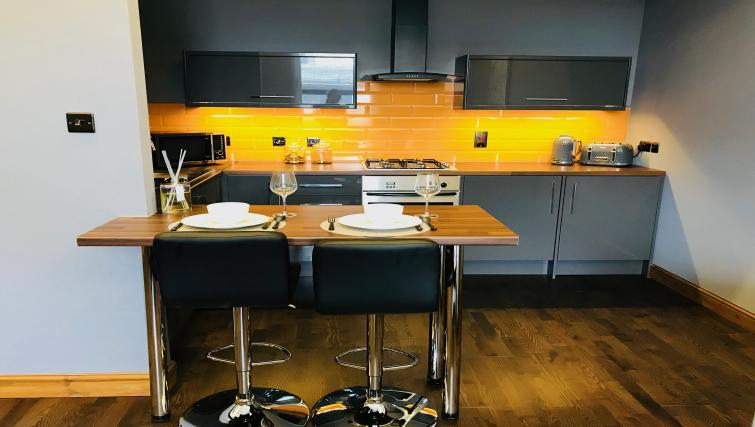 Kitchen at South Fredrick Glasgow City Centre Apartment - Citybase Apartments