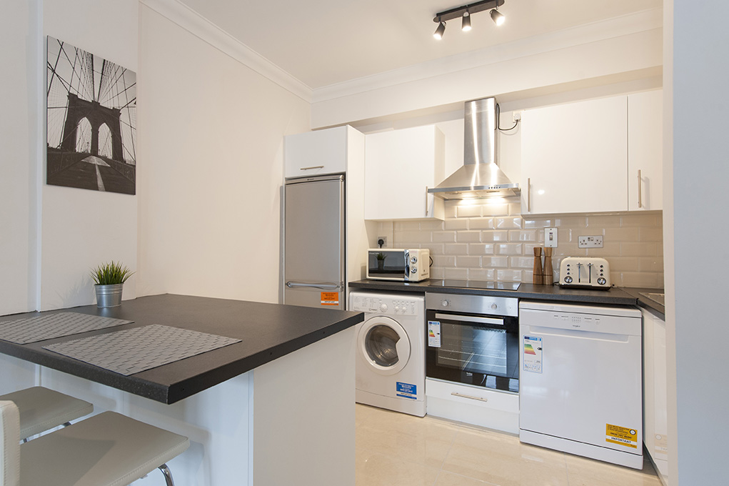 Kitchen facilities at The Waterside Apartment - Citybase Apartments