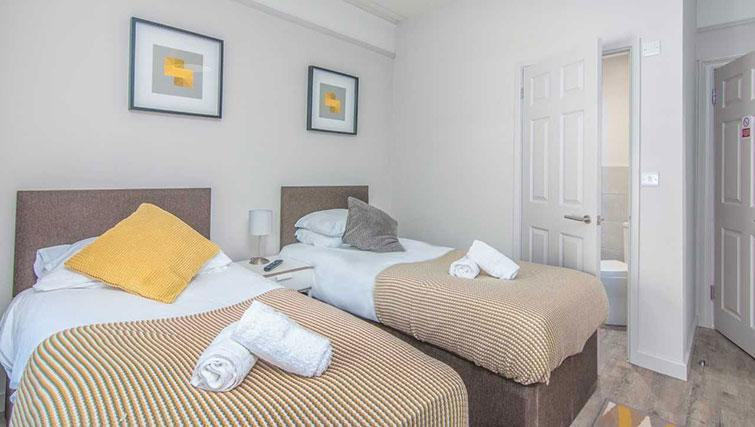 Bright bedroom at Priory Road Apartment - Citybase Apartments