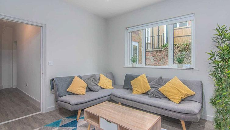Living room at Priory Road Apartment - Citybase Apartments