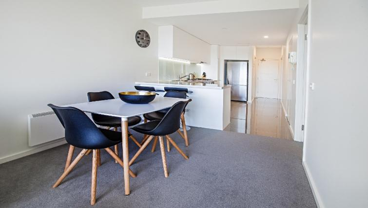 Large living area at Flinders Wharf Apartments - Citybase Apartments