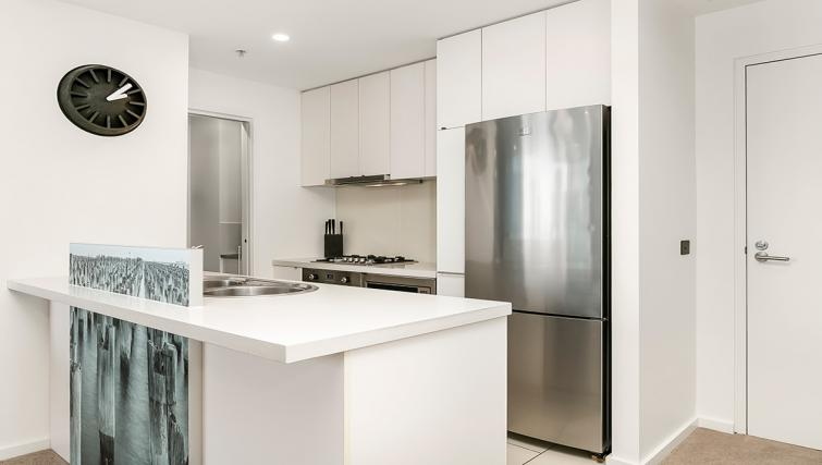 Kitchen at Flinders Wharf Apartments - Citybase Apartments