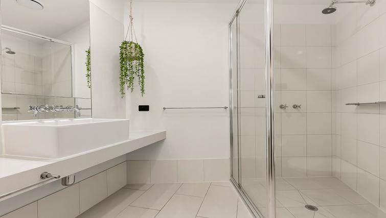 Bathroom at Flinders Wharf Apartments - Citybase Apartments