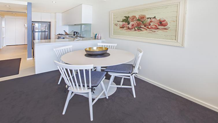 Dining table at Flinders Wharf Apartments - Citybase Apartments
