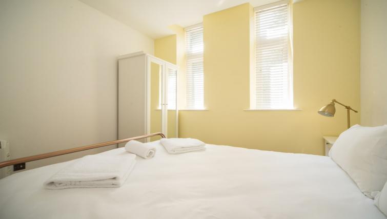 Bed decor at the Marlborough Hall Apartment - Citybase Apartments