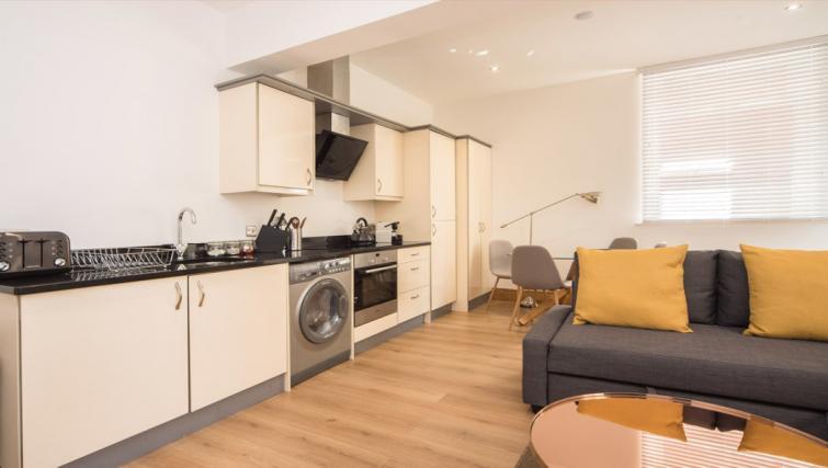 Sleek kitchen at the Marlborough Hall Apartment - Citybase Apartments