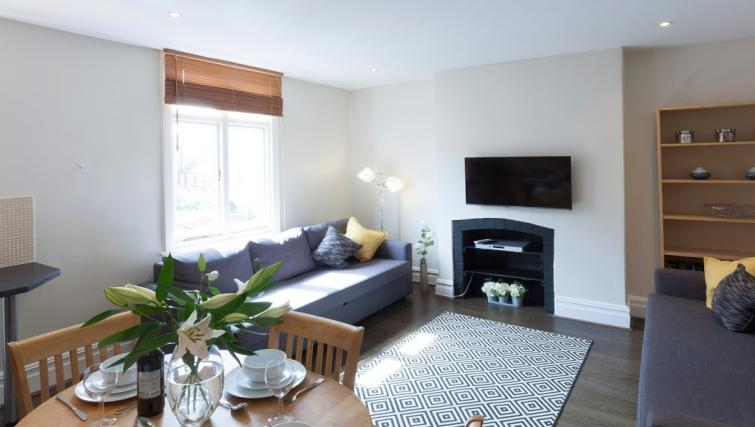 Living room at Victorian Towers Apartment - Citybase Apartments