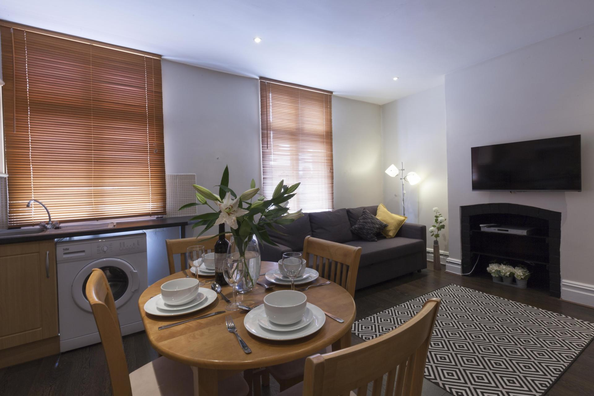 Dining table at Victorian Towers Apartment, Centre, Leicester - Citybase Apartments