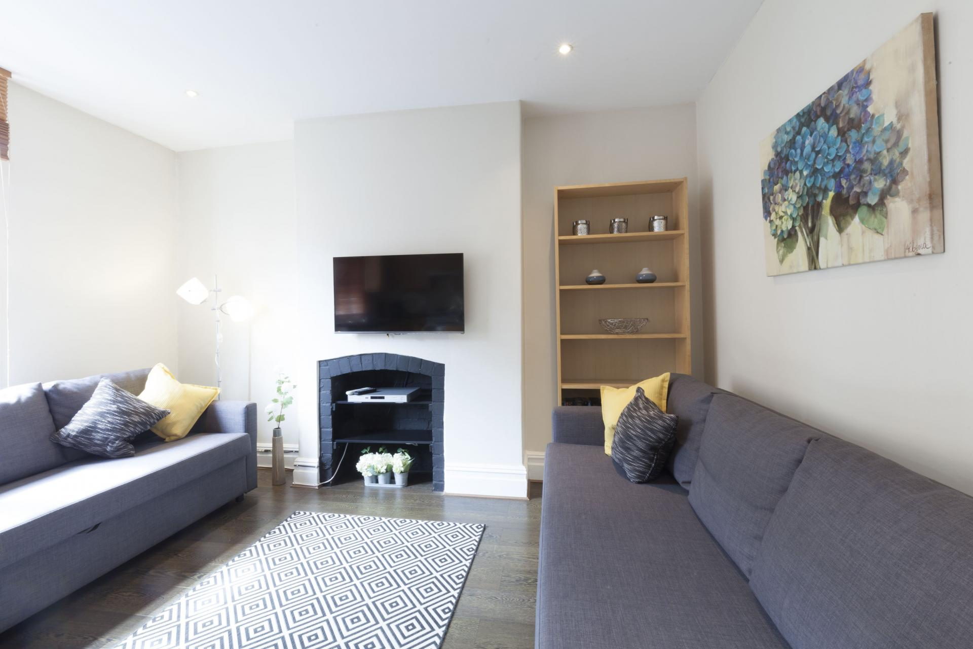 Sofas at Victorian Towers Apartment, Centre, Leicester - Citybase Apartments