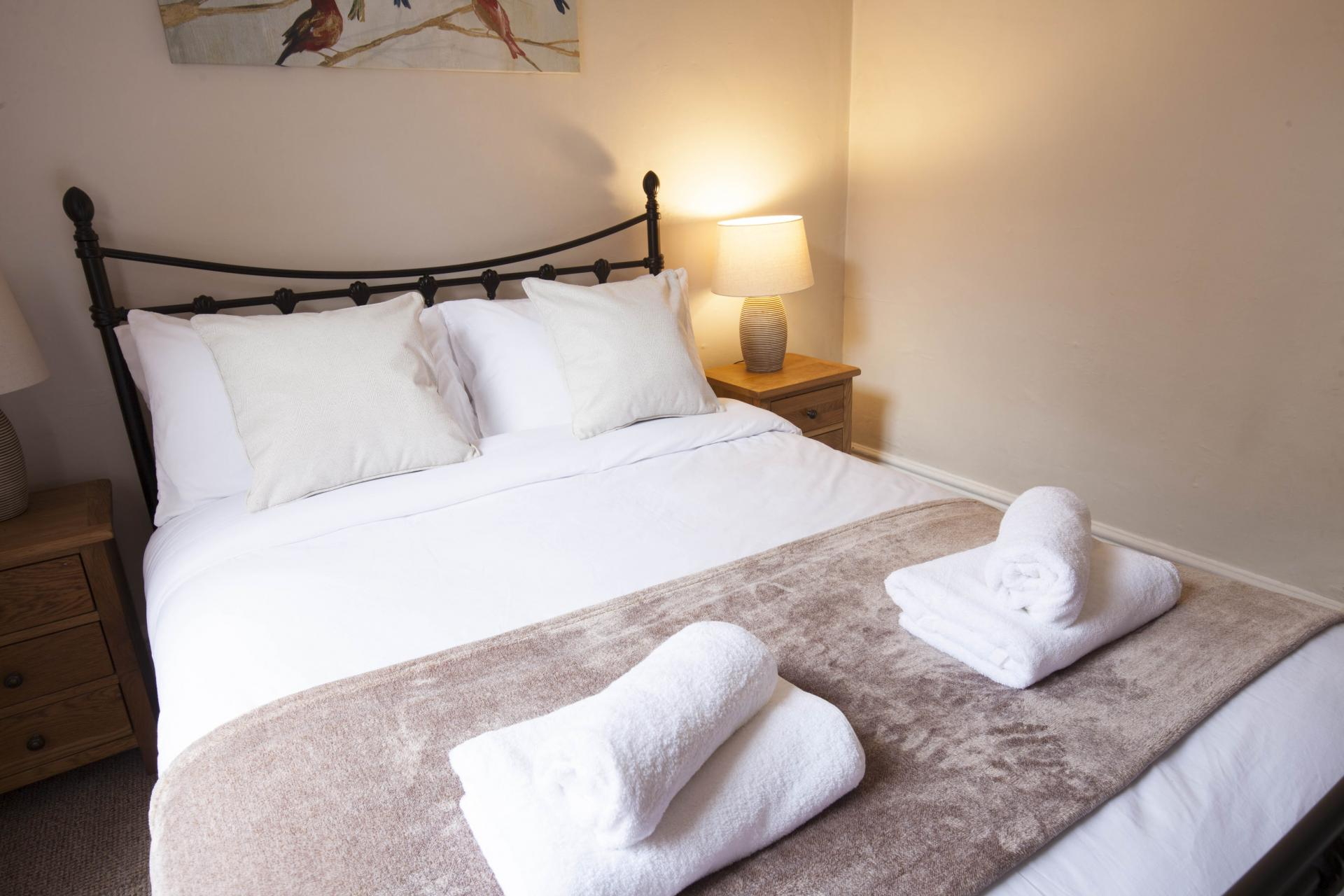 Bed at Victorian Towers Apartment, Centre, Leicester - Citybase Apartments