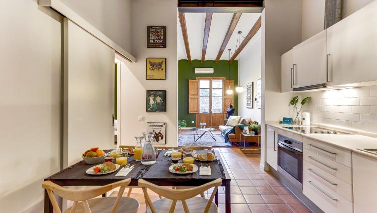 Kitchen at Ausias Marc Apartment - Citybase Apartments