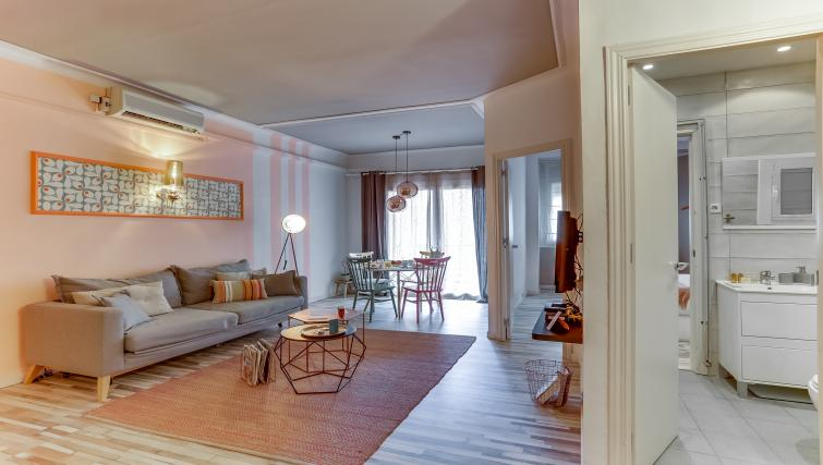 Living room at the Saint Gervasi Vacation Apartment - Citybase Apartments