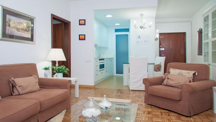 Living room at the Delicat Santalo Apartment - Citybase Apartments