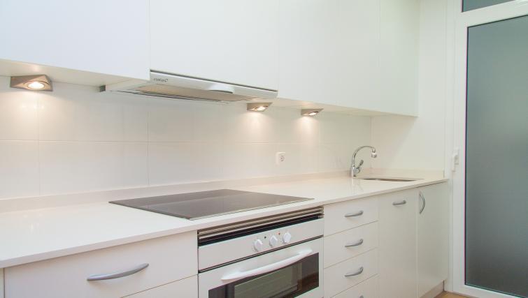 Kitchen at the Delicat Santalo Apartment - Citybase Apartments