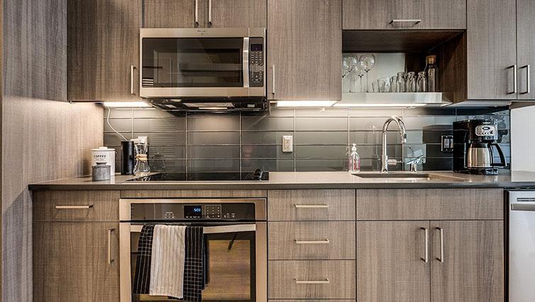 Kitchen at Juxt Apartments - Citybase Apartments