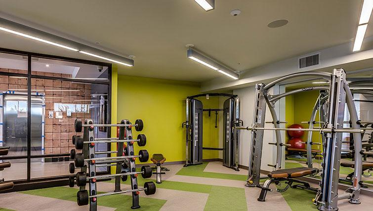 Fitness centre at Juxt Apartments - Citybase Apartments