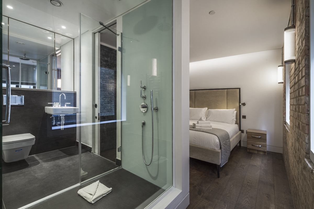 Bathroom at Soho Lofts by Q Apartments, Soho, London - Citybase Apartments