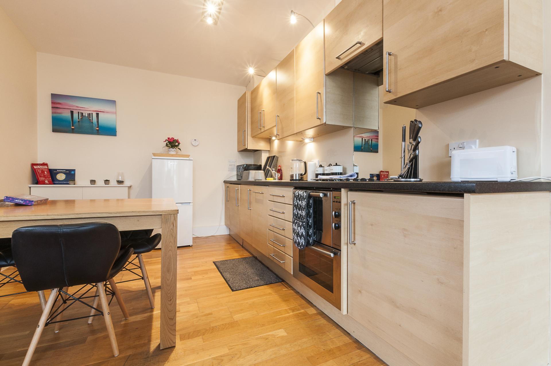 Kitchen at Smythern Street Apartment - Citybase Apartments