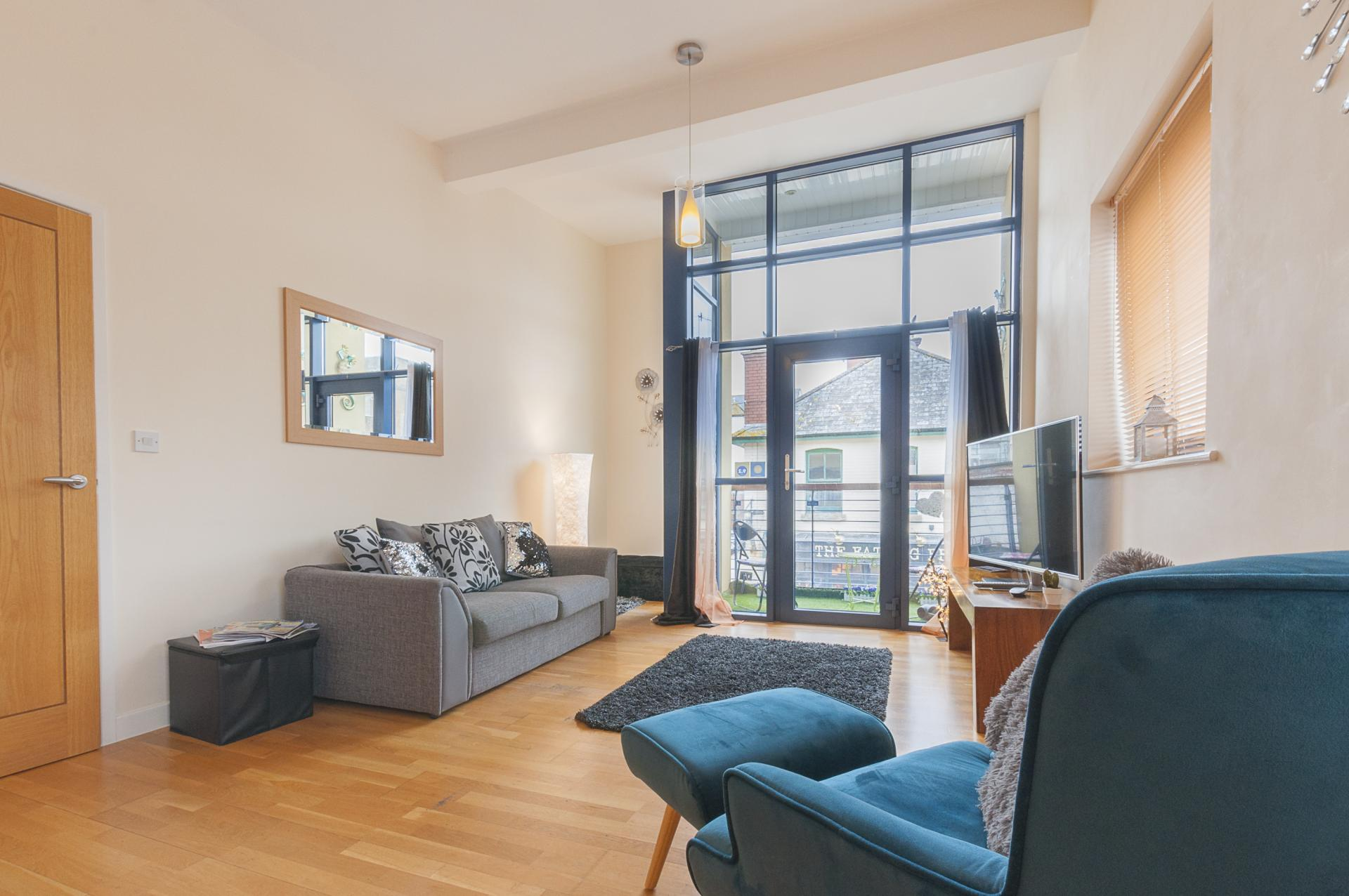 Bright living room at Smythern Street Apartment - Citybase Apartments