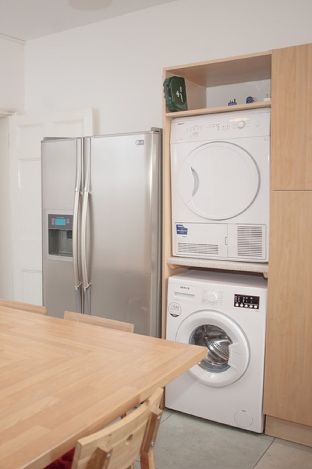 Fridge and laundry at Quire Court Apartment, Centre, Gloucester - Citybase Apartments