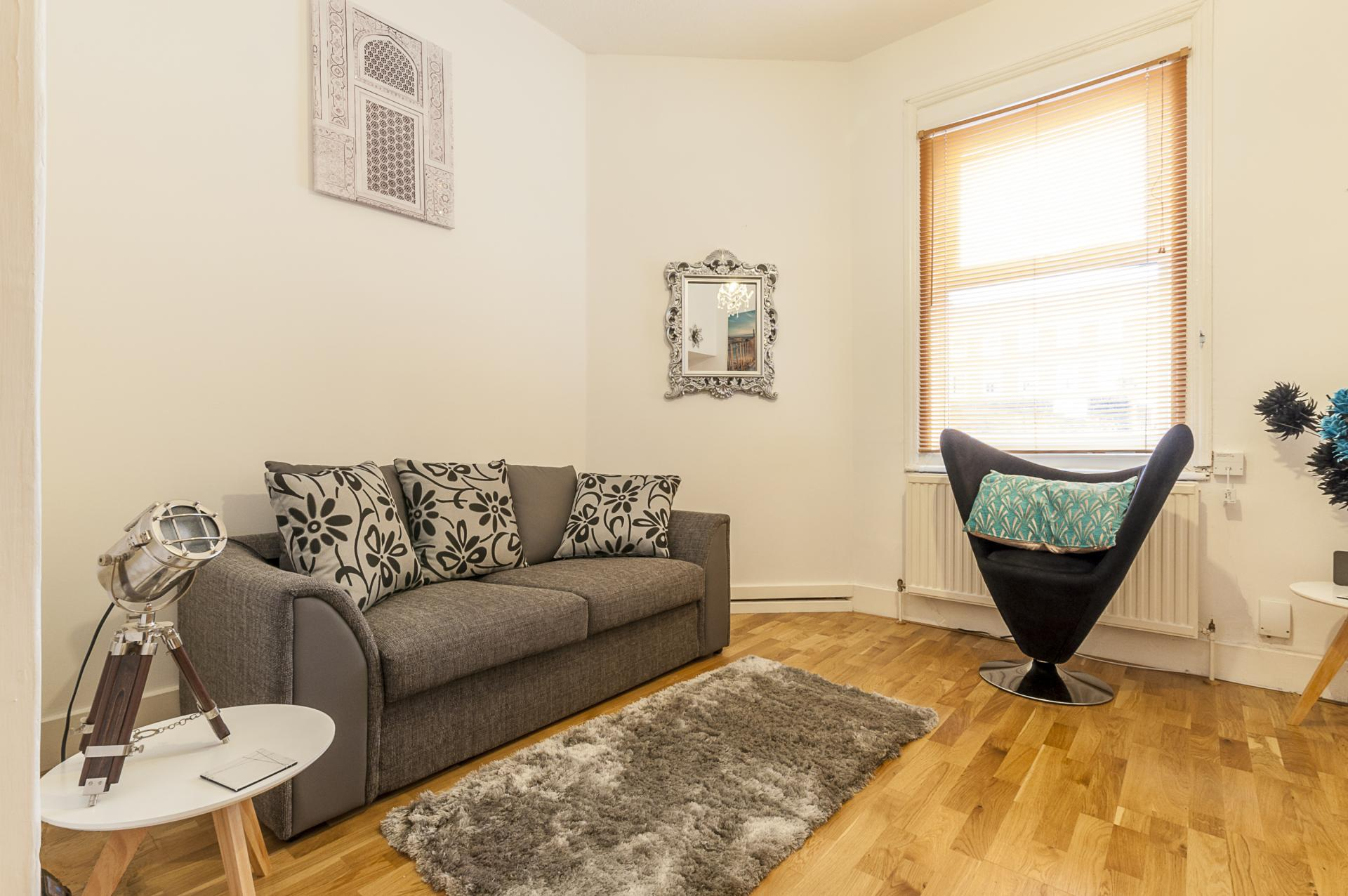 Living room at Kimberley Road Apartment - Citybase Apartments