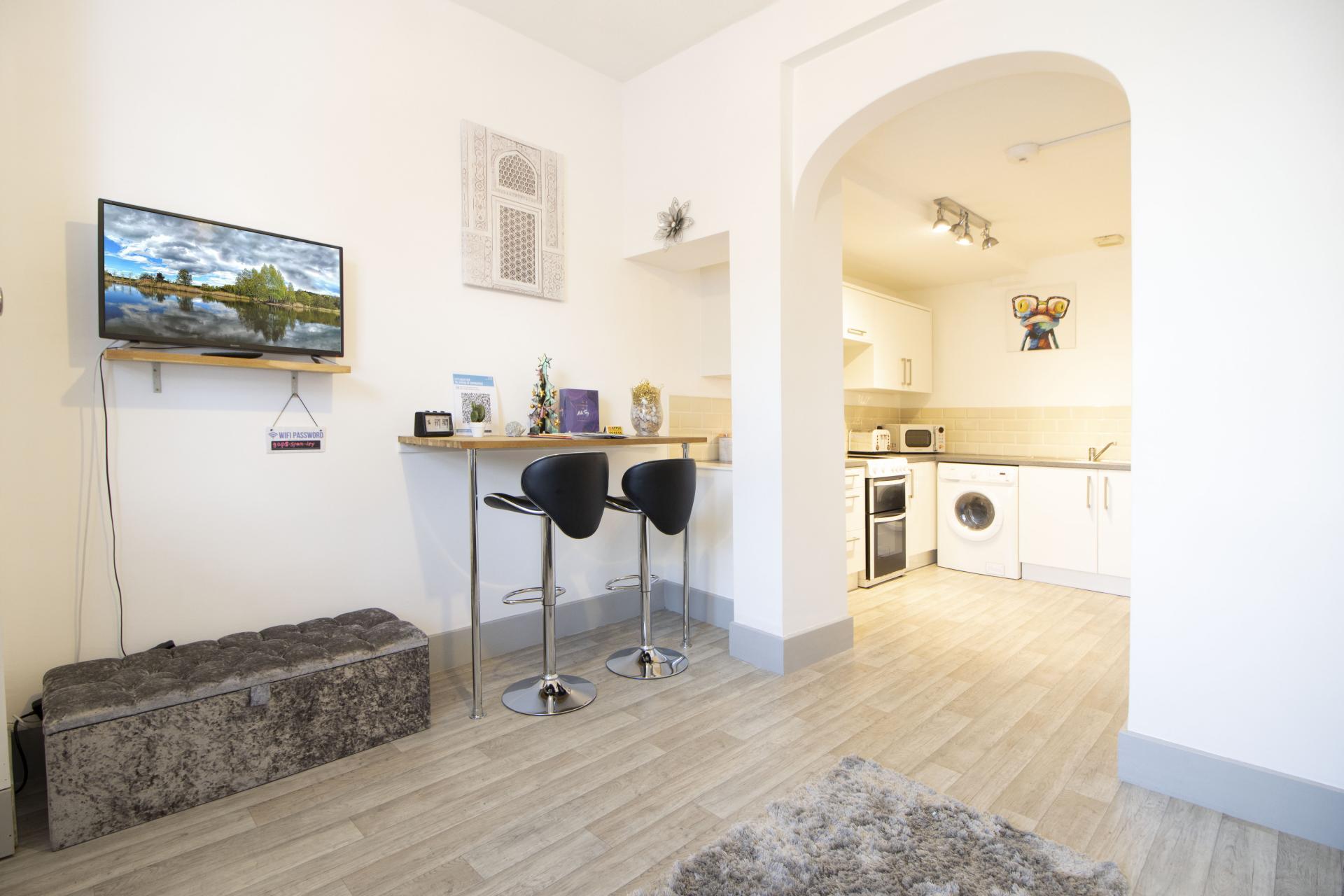Open plan living at Kimberley Road Apartment - Citybase Apartments