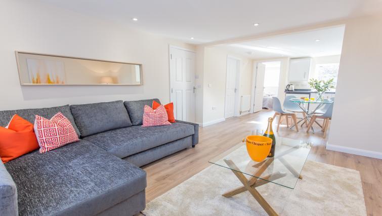 Sofa area atPinnocks Lodge Apartment - Citybase Apartments