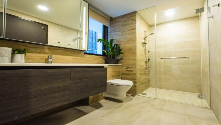 Bathroom at the Aljunied Apartments, Singapore - Citybase Apartments
