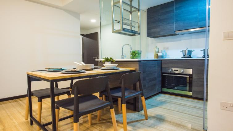 Kitchen at the Aljunied Apartments, Singapore - Citybase Apartments