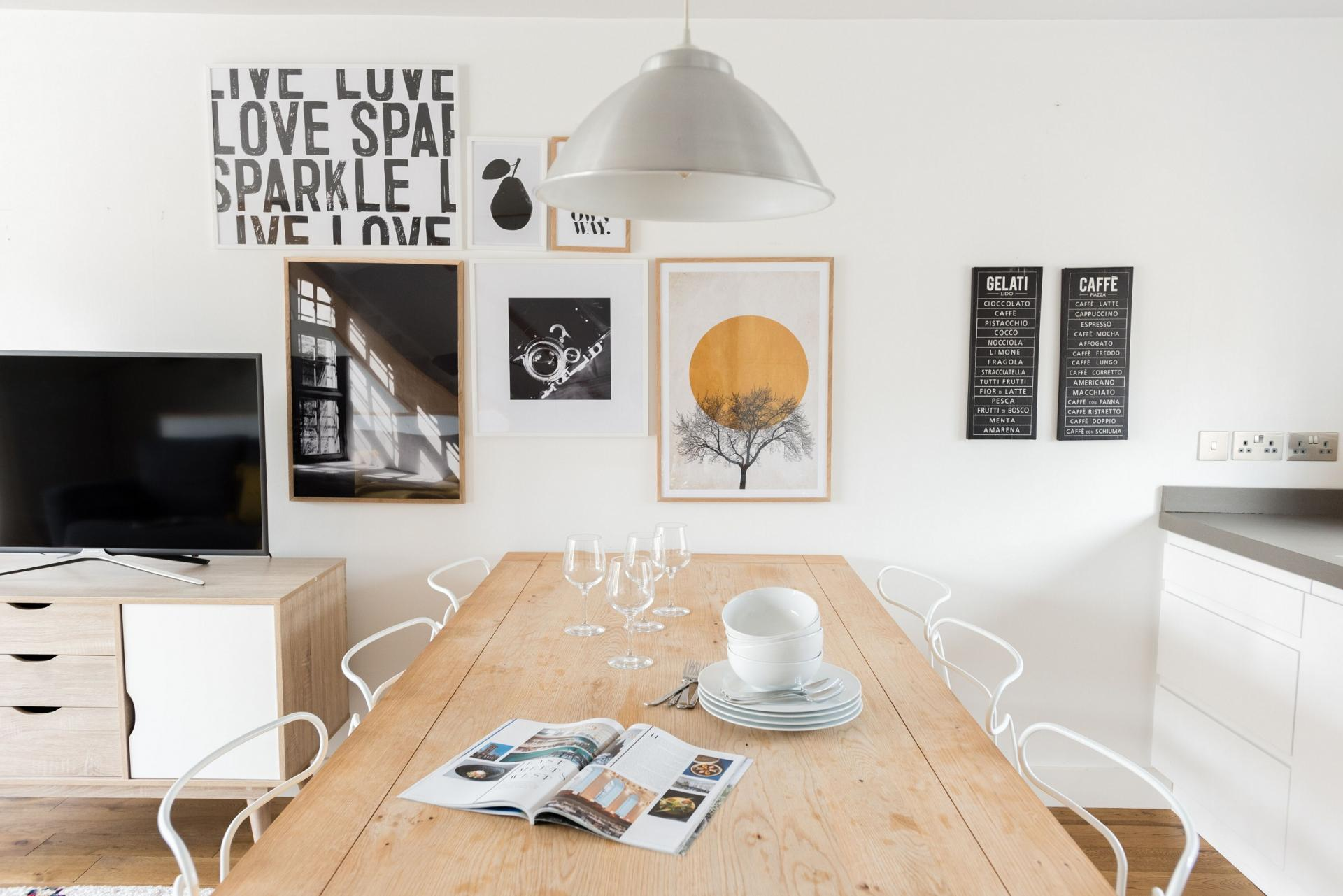 Dining table at The Press House - Citybase Apartments