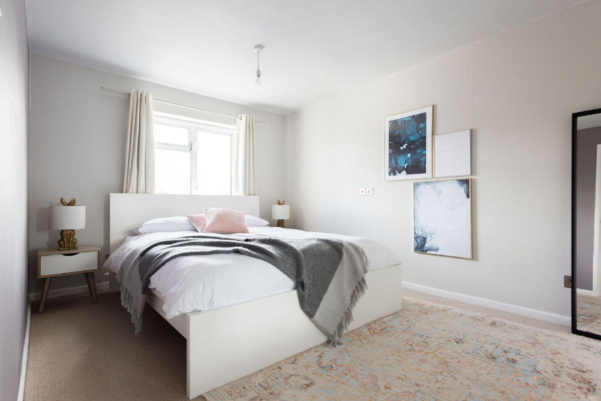 Bright bedroom at The Press House - Citybase Apartments