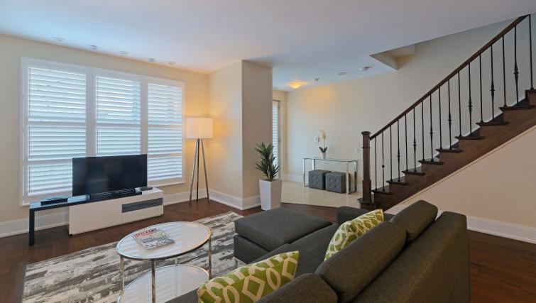 Sofa and TV at Parc Nuvo Apartments - Citybase Apartments