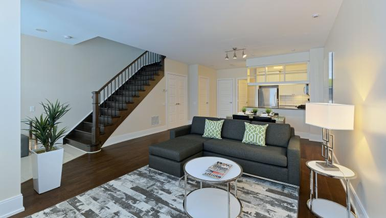 Living room at Parc Nuvo Apartments - Citybase Apartments