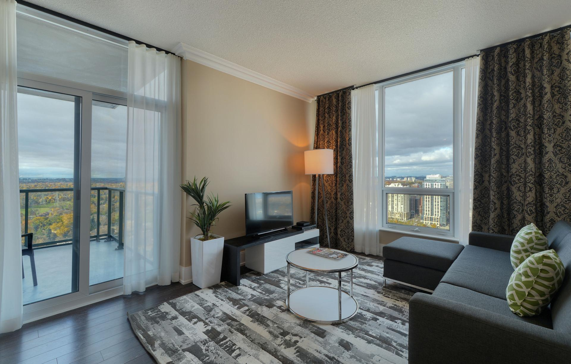 Lounge at  Parc Nuvo Apartments - Citybase Apartments