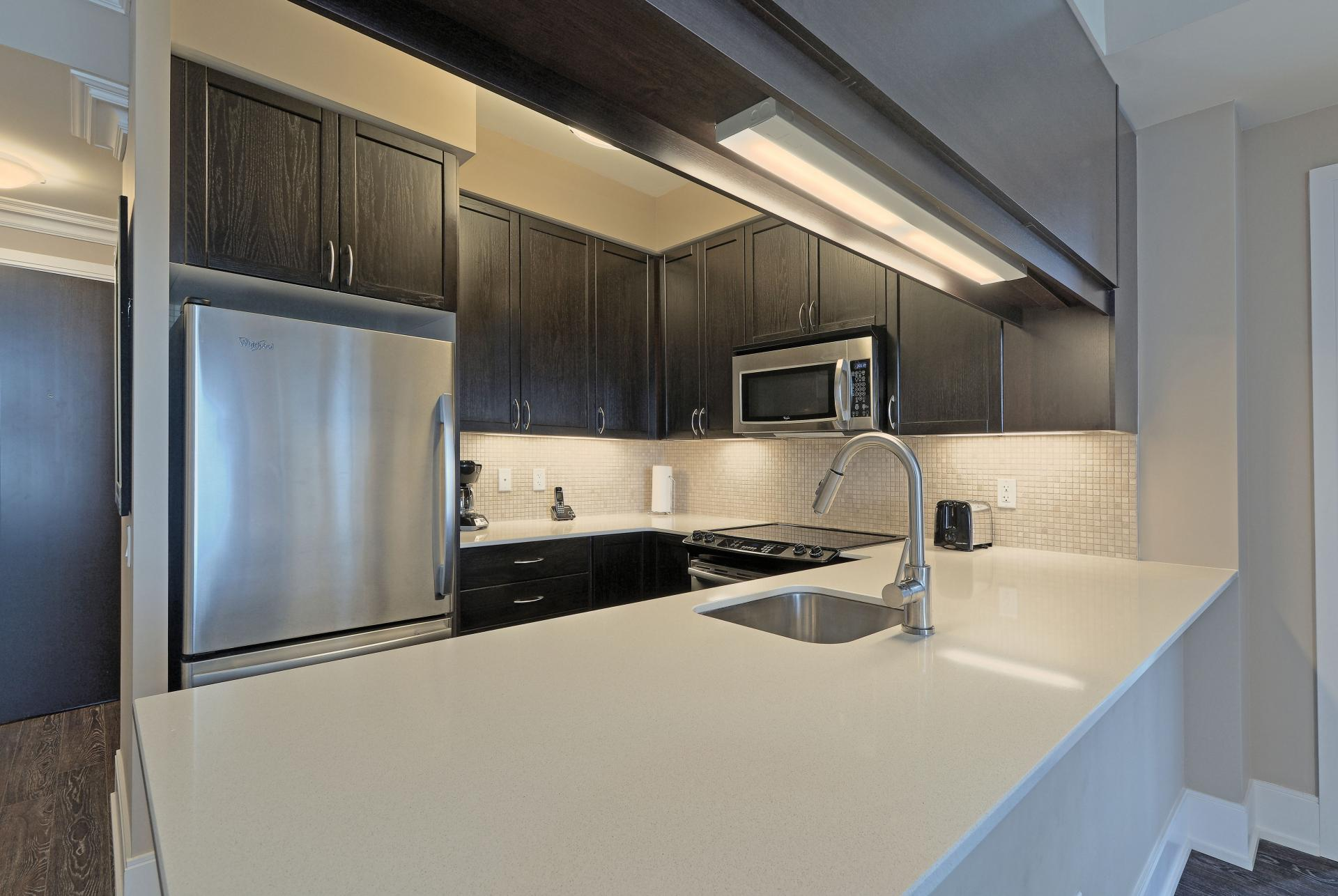Modern kitchen at  Parc Nuvo Apartments - Citybase Apartments