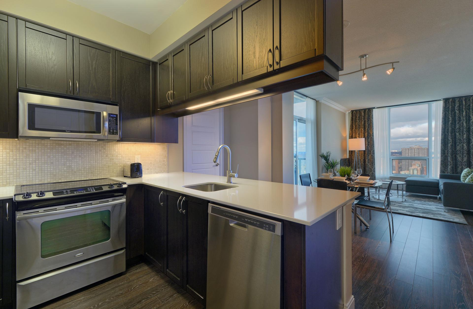Oven at  Parc Nuvo Apartments - Citybase Apartments