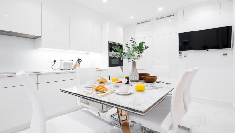 Kitchen at the Mayfair Class Apartment - Citybase Apartments