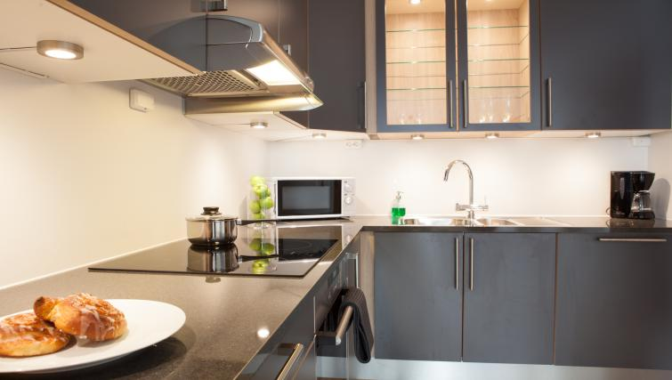 Kitchen at Damsgård Apartments - Citybase Apartments