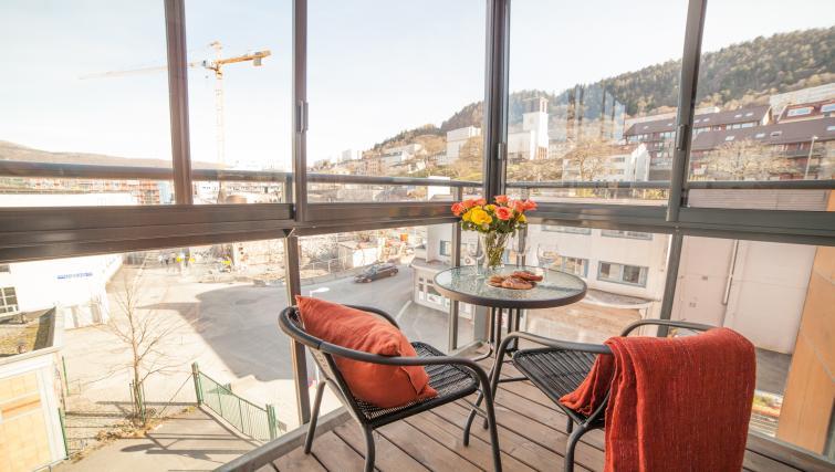 Walk-on balcony at Damsgård Apartments - Citybase Apartments