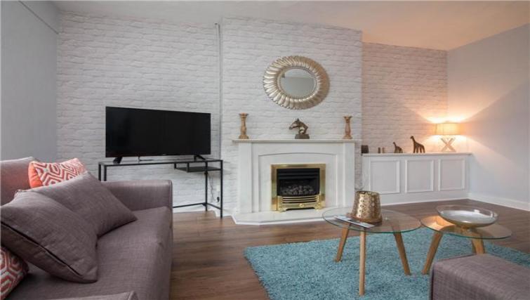 TV at Elderpark View Apartment - Citybase Apartments