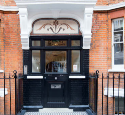 Front door at Fitzrovia Apartments - Citybase Apartments