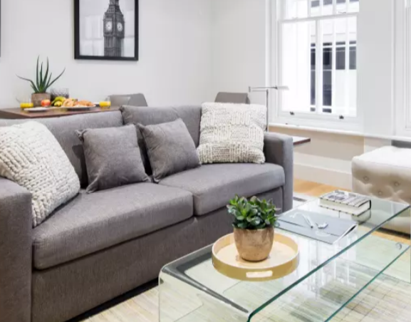 Sofa at Fitzrovia Apartments - Citybase Apartments